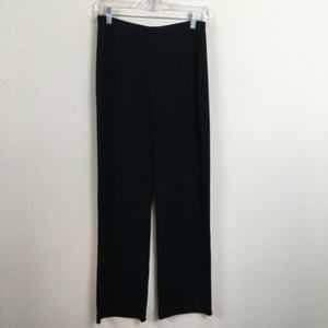 Womens Chicos Travelers Black knit pants stretch